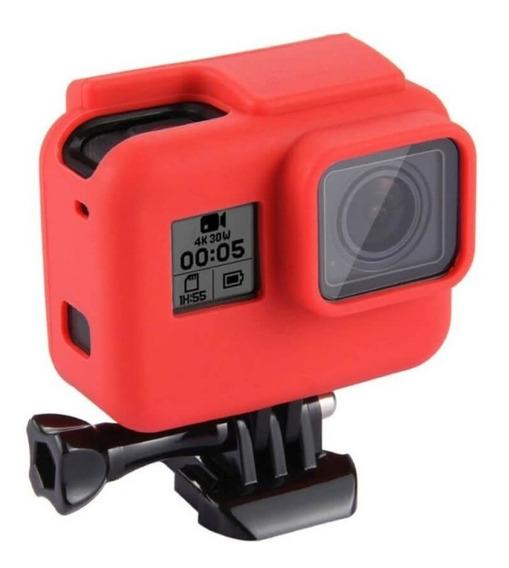 Capa Case Silicone Gopro Hero 7 6 5 Black Uso Com Frame