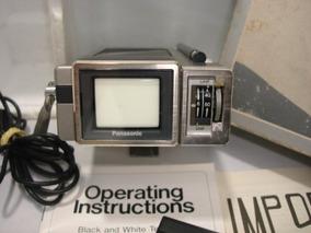Antiga Mini Tv Televisão Panasonic Na Caixa Com Manual