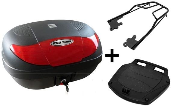 Bau Moto 45 Litros Pro Tork + Bagageiro Maciço Honda Cb300