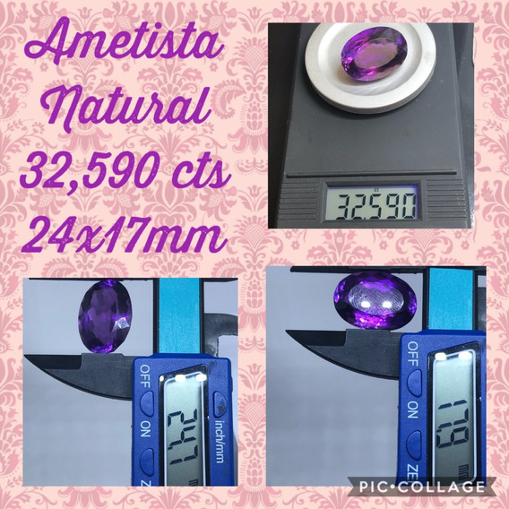 Ametista 32 590 Cts Oval Natural 24x17 Mm Limpa