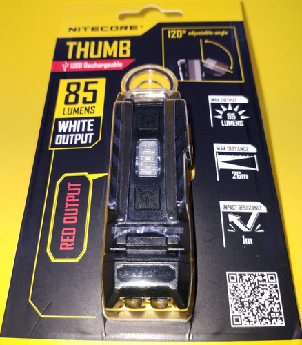 Lanterna Nitecore Thumb Edc Survivor C/ Led Red Sinalizador