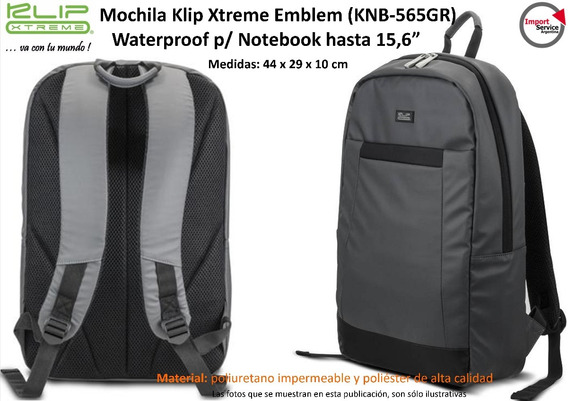 Mochila Klip Xtreme Emblem Knb-565gr Waterproof P/note 15,6