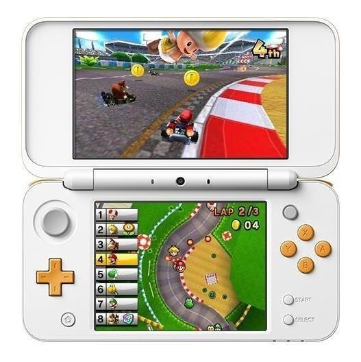 Nintendo New 2DS XL Mario Kart 7 Bundle branco/laranja