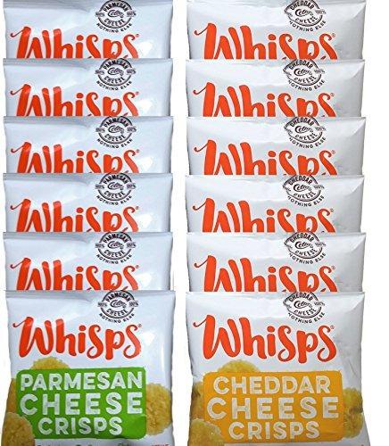 Bolsas De Queso Whisps Surtido 12 Piezas Parmesano Cheddar