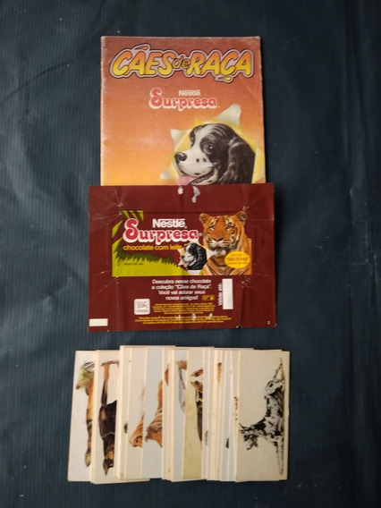 Álbum Chocolates Surpresa Cães De Raça Completo P/ Colar
