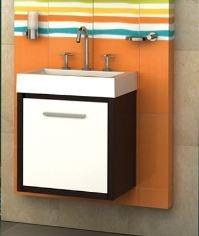 Vanitory Mueble Baño Campi Piccolo 46 Con Mesada Sintetica