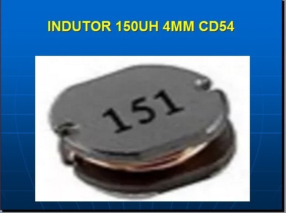 Indutor 150uh 4mm Smd Pct 5 Pçs