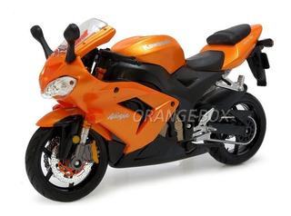 Kawasaki Ninja Zx-10r 1:12 Maisto 31105-laranja