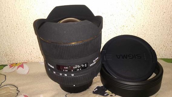 Lente Sigma Nikon 12-24mm Perfeito Estado E Funcionamento.