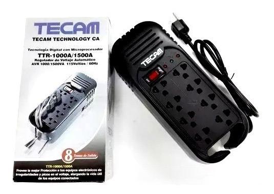 Regulador Protector De Voltaje Omega Pcg 1200 8 Tomas Gs