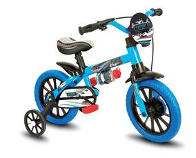 Bicicleta Infantil Aro 12 Veloz - Nathor - Azul/preta