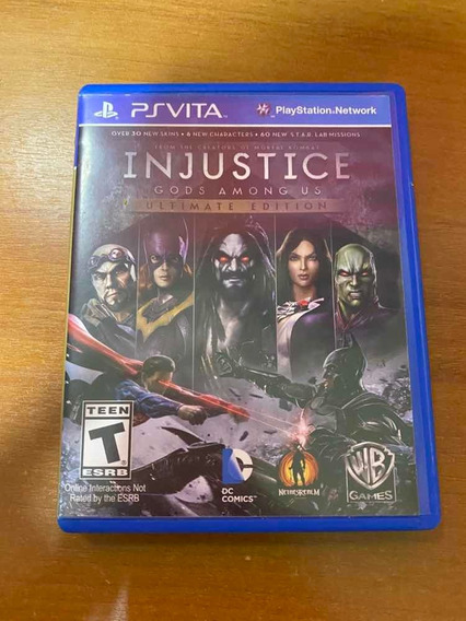 Capa Do Jogo Injustice Unlimited Edicion Psvita C Manual!!