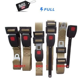 Kit Cinto De Segurança P/ Fusca - Bege - 5 Peças
