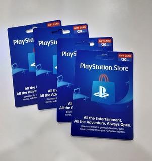 Tarjeta Playstation Store $20 Región Usa Ps3 Ps4 Psn