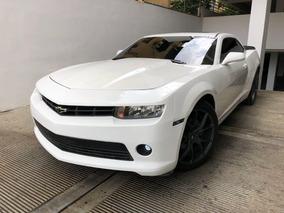 Chevrolet Camaro Lt Full V6 2014 Blanco Interior Piel Rojo