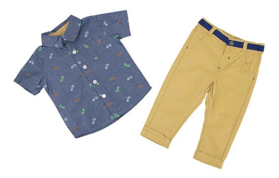 Conjunto 2 Pza Para Niño Camisa Y Pantalón 04934