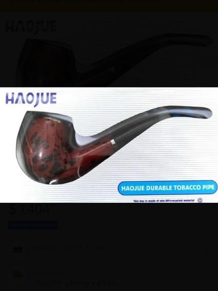 Pipa Simil Madera Haojue 14 Cm Curva Cigarro Tabaco Profesio
