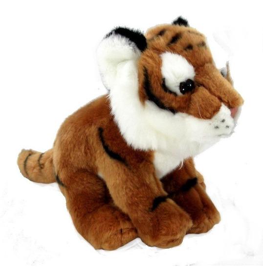 Linha Filhotes Felinos Selvagens Tigre 20 Cm Antialérgico