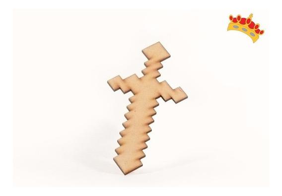 Espada Minecraft 45cm En Fibrofacil 10 Unidades Oferta!