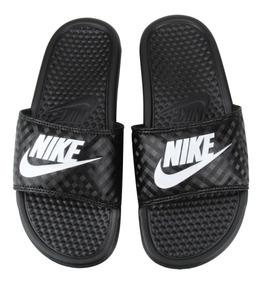 2 Pares Chinelo Nike Benassi Preto Azul Branco Original