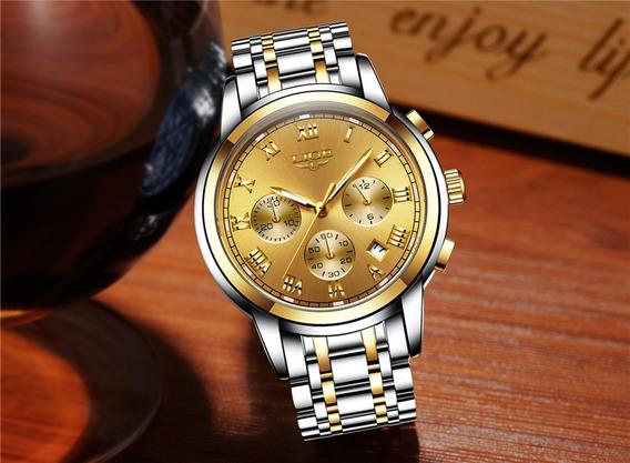 Relógio De Luxo Liger Barato Pronta Entrega + Brinde
