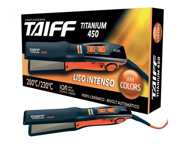 Taiff Chapa Titanium 450 Laranja Serie Colors Bivolt