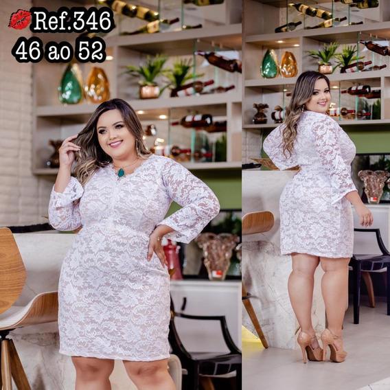 Alipio Store- Vestido Em Renda -plus Size