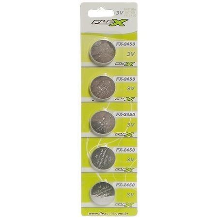 Bateria Lithium Flex Gold Cr2430 Com 5 - Fx-cr2430