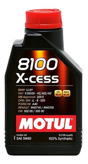 Óleo Motul 8100 X-cess 5w40 1 Litro Motor Alta Potência