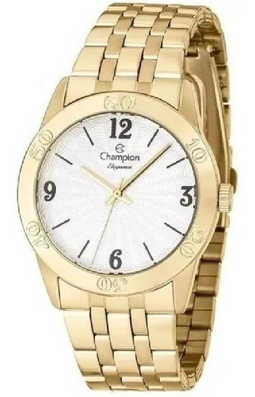 Relógio Champion O R I G I N A L Cn25001w Dourado + Nota