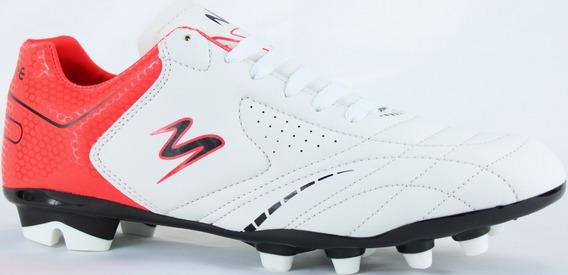 Tenis Futbol Soccer Pasto Modelo 430 Blanco/ Rojo/ Negro