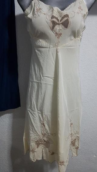Hermoso Fondo Completo Vintage(full Slip)color Beige Talla L