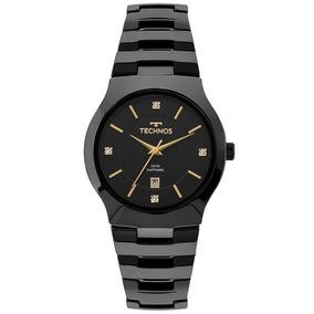 Relógio Technos Feminino Cerâmica Preto Gn10au/4p