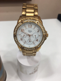 Relógio De Pulso Dumont Feminino Rosé | Sz89029b