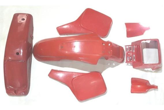 Kit Carenagem Agrale Cagiva Vermelha Com 7 Peças