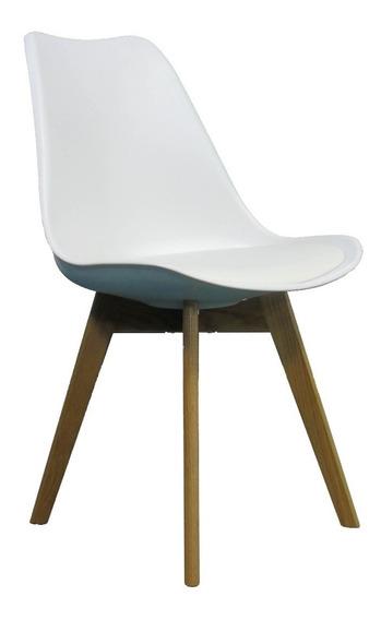 Silla Noa Blanco Asiento Acolchado (tipo Eames) Minimalista