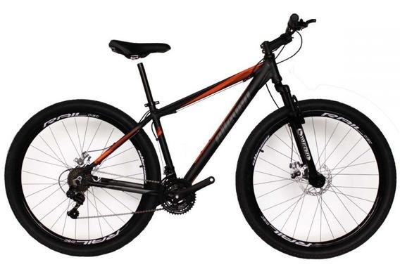 Bicicleta Mtb Aro 29 21 Marchas Preto/laranja Elleven Gear