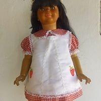 Boneca Amiguinha Negra Customizada Década 70