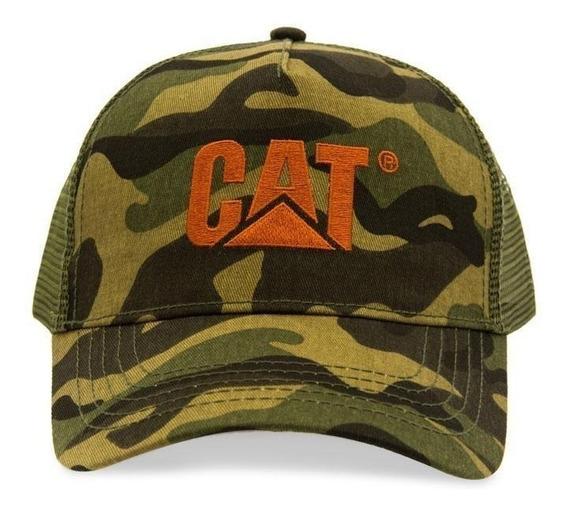 Gorra Cat Original Hombre Tipo Militar Catepillar Ajustable