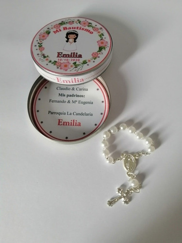 15 Latitas Personalizadas Con Mini Rosarios