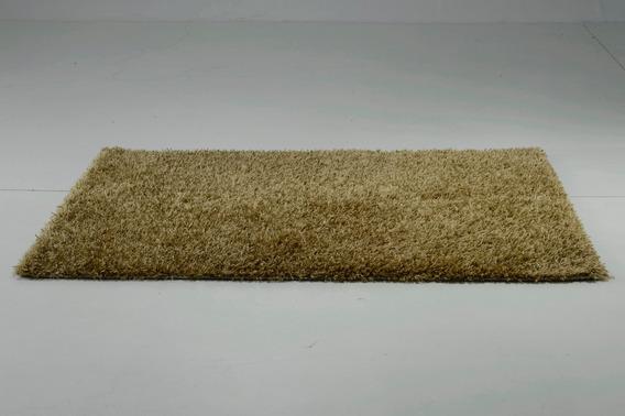 Tapete Shaggy Gold Dourado 200x150cm 2x1,5m Indiano Artesana