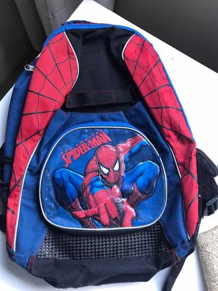 Mochila Spiderman Niño Azul Roja Marvel Importado Usa