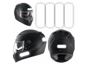Kit Adesivo Refletivo Para Capacete Moto Carro E Bicicleta