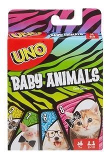 Uno Animales Adorables Juego De Cartas Mattel Games