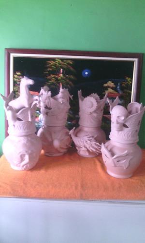 Soperas En Bizcocho, Con Disenos Oya, Obatala, Oschun Y Yema