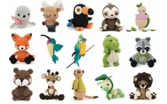 15 Patrones Amigurumis Zoo Crochet Animales Ingles