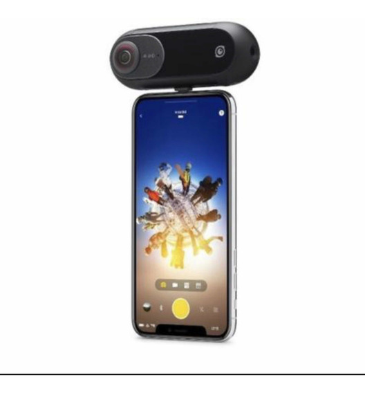 Câmera Insta 360 One P/ iPhone + Bastão Stick