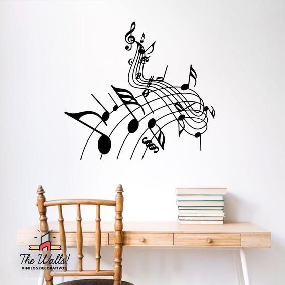 Vinilos Musica Decorativos Musicales Guitarra Notas