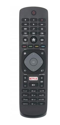 Imagen 1 de 8 de Control Remoto Para Philips Netflix Smart 4k 5000 6000 Tv Led 3d