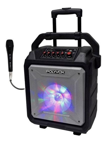 Caixa De Som Amplificada Xb450 Polyvox Bluetooth Bateria120w